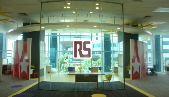 RS Components Pte Ltd - Logo Signage (2nd floor)